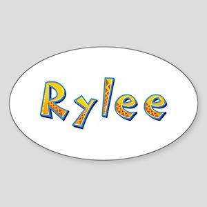 Rylee Giraffe Oval Sticker