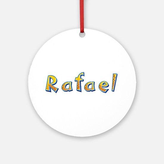 Rafael Giraffe Round Ornament