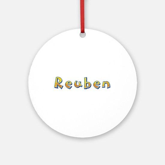 Reuben Giraffe Round Ornament