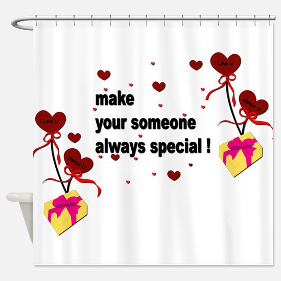 Make your someone special - Hearts Shower Curtain