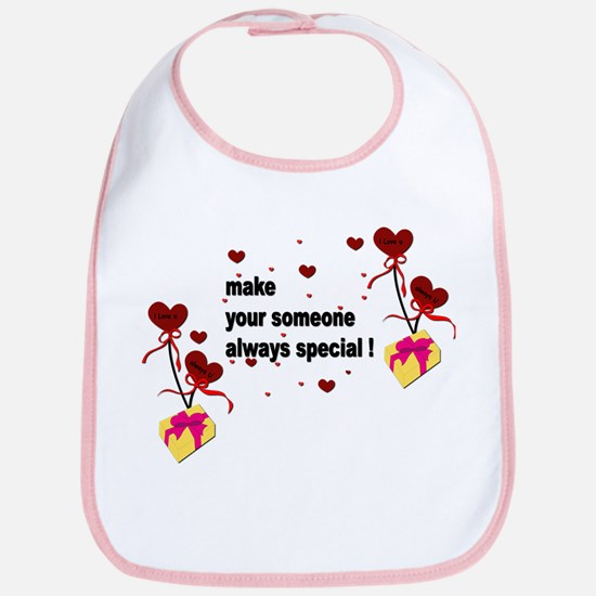 Make your someone special - Hearts Bib