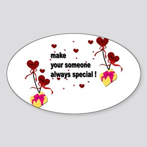 Make your someone special - Hearts Sticker (Oval)