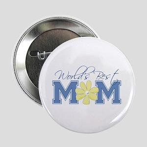 Best Mom Blue Button