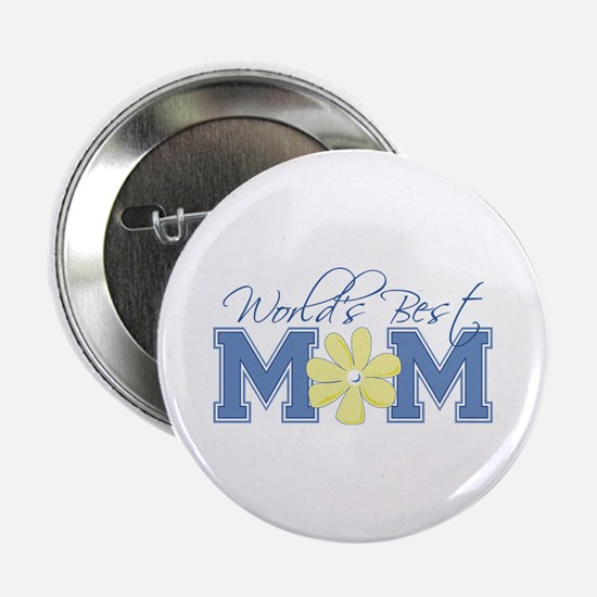 Best Mom Blue Button