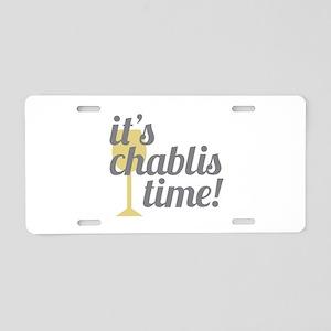 Chablis Time Aluminum License Plate