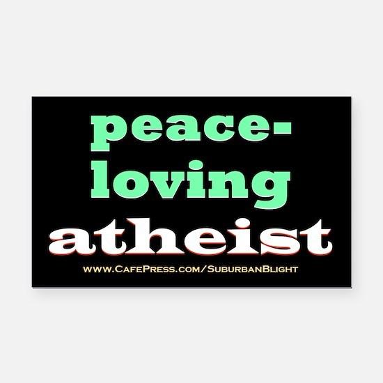 Peace-loving Atheist Rectangle Car Magnet