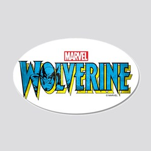 Wolverine Logo 20x12 Oval Wall Decal