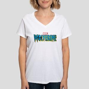 Wolverine Logo Women's V-Neck T-Shirt