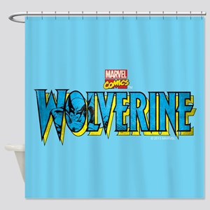 Wolverine Logo Shower Curtain