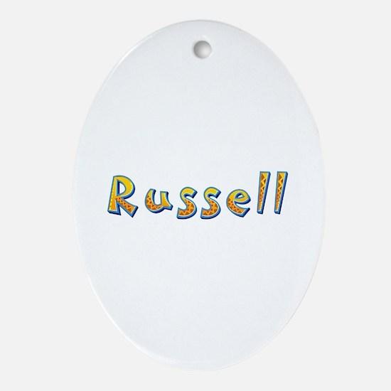 Russell Giraffe Oval Ornament