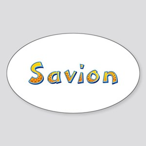 Savion Giraffe Oval Sticker