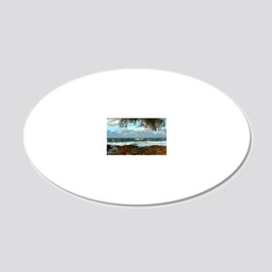 Water Style 20x12 Oval Wall Decal