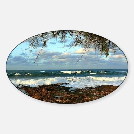 Water Style Sticker (Oval)