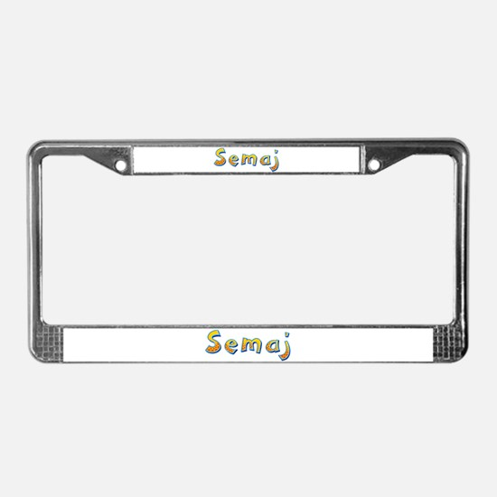 Semaj Giraffe License Plate Frame