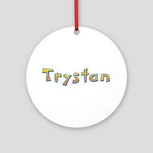 Trystan Giraffe Round Ornament