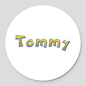 Tommy Giraffe Round Car Magnet