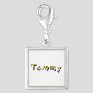 Tommy Giraffe Silver Square Charm