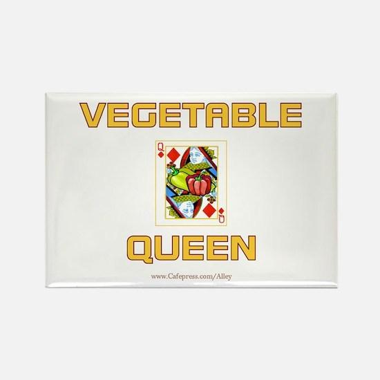Vegetable Queen Rectangle Magnet