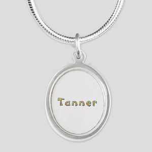 Tanner Giraffe Silver Oval Necklace