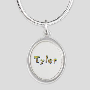 Tyler Giraffe Silver Oval Necklace