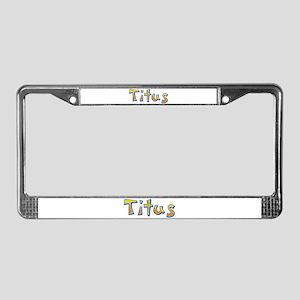 Titus Giraffe License Plate Frame