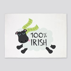 100% Irish 5'x7'Area Rug