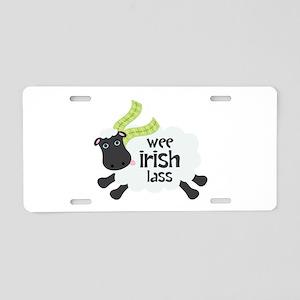 Wee Irish Lass Aluminum License Plate