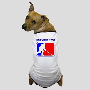 Custom Hockey League Logo Dog T-Shirt