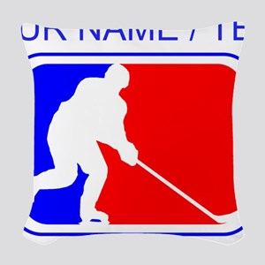 Custom Hockey League Logo Woven Throw Pillow