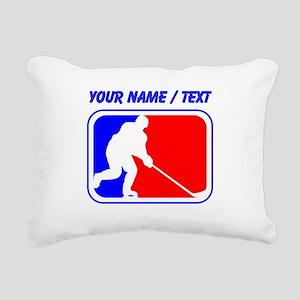Custom Hockey League Logo Rectangular Canvas Pillo