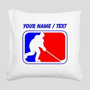 Custom Hockey League Logo Square Canvas Pillow