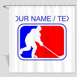 Custom Hockey League Logo Shower Curtain