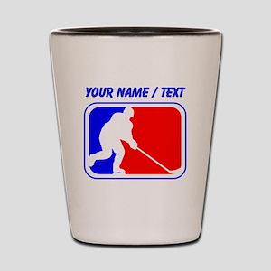 Custom Hockey League Logo Shot Glass