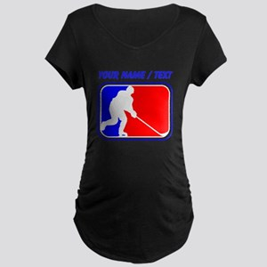 Custom Hockey League Logo Maternity T-Shirt