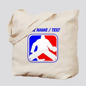 Custom Hockey Goalie League Logo Tote Bag