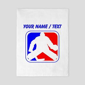 Custom Hockey Goalie League Logo Twin Duvet