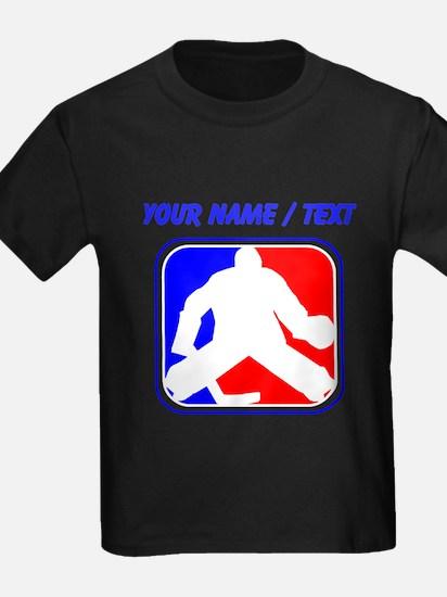 Custom Hockey Goalie League Logo T-Shirt