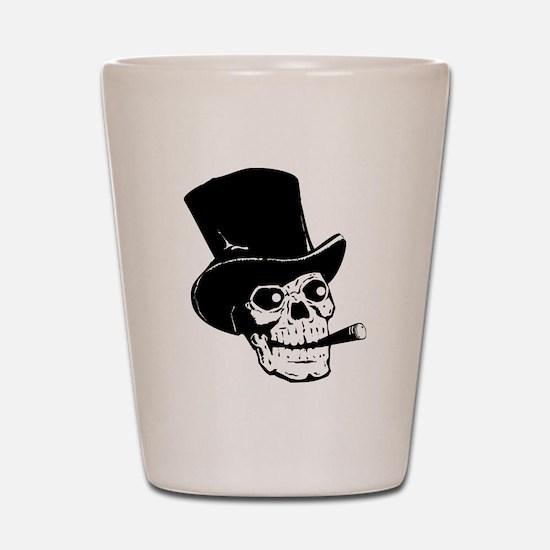 Black Skull Shot Glass