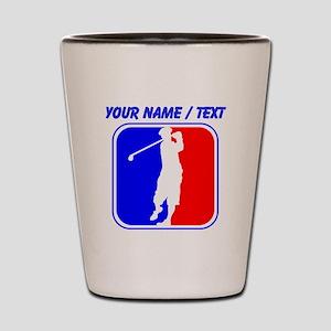 Custom Golf League Logo Shot Glass