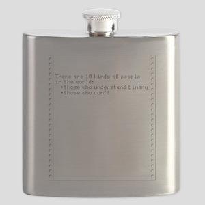 Binary Savvy—Retro Dot Matrix Flask