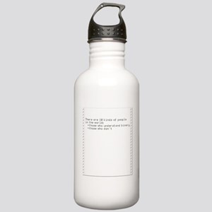 Binary Savvy—Retro Dot Matrix Water Bottle