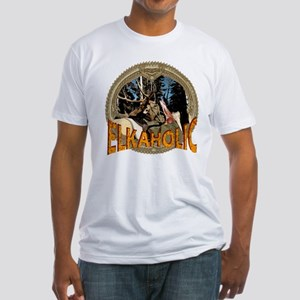elkaholic elk hunter gifts Fitted T-Shirt