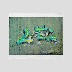 Old Graffiti Throw Blanket
