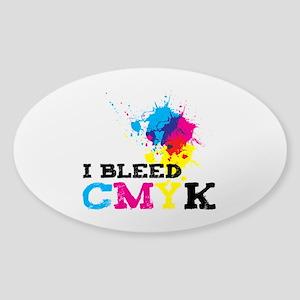 Bleed CMYK Sticker (Oval)