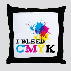 Bleed CMYK Throw Pillow
