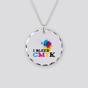 Bleed CMYK Necklace Circle Charm