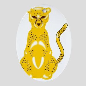 Jaguar Art Oval Ornament