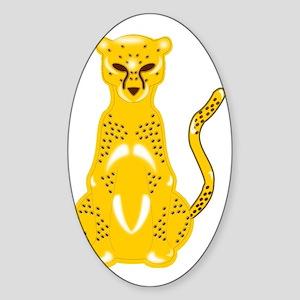 Jaguar Art Sticker (Oval)