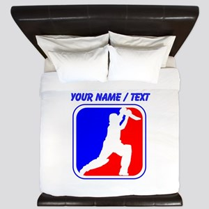 Custom Cricket League Logo King Duvet