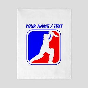 Custom Cricket League Logo Twin Duvet